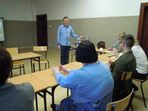 Krzysztof Jarczewski prowadzi warsztaty